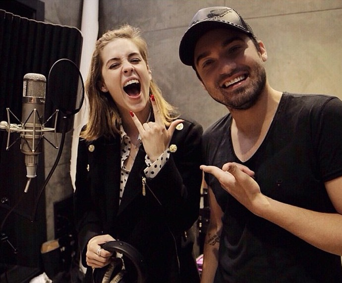 Fernando produz o novo CD de Sophia Abrahão (Foto: Arquivo pessoal)