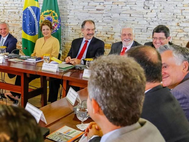 A presidente Dilma Rousseff lidera reunião ministerial em Brasília (Foto: Roberto Stuckert Filho/PR)