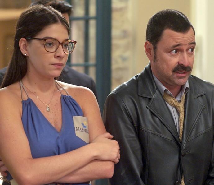 Damasceno leva puxão de orelha de Manfredo e Gaetano (Foto: TV Globo)