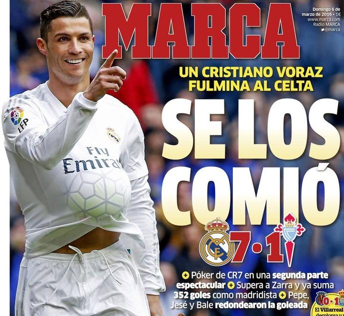 """Cristiano Ronaldo capa """"Marca"""" (Foto: Reprodução)"""
