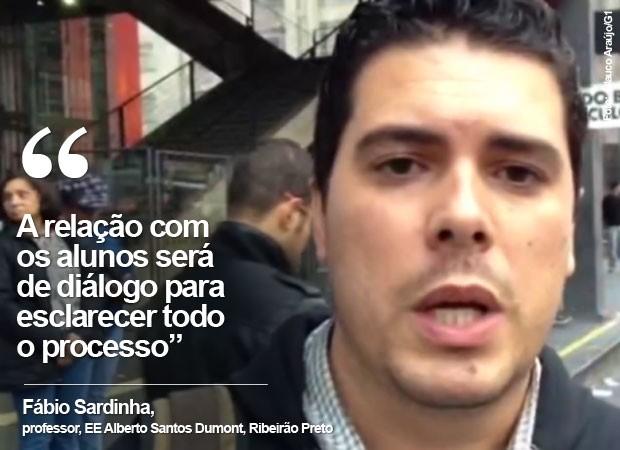 Professor Fabio Sardinha  (Foto: Glauco Araújo/G1)
