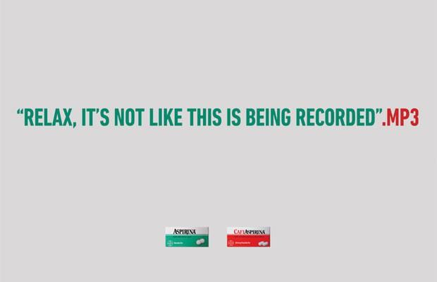 Peça publicitária criada pela AlmapBBDO comparou gravação de sexo com dor de cabeça. (Foto: Divulgação)