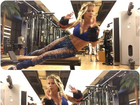 Karina Bacchi faz abdominais com barriga de fora e estimula fãs a malhar