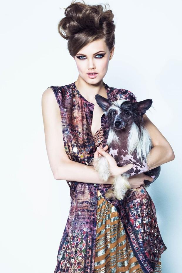 Lindsay Wixson para a Vogue Brasil de agosto de 2013 em foto de Jacques Dequeker (Foto: Arquivo Vogue)