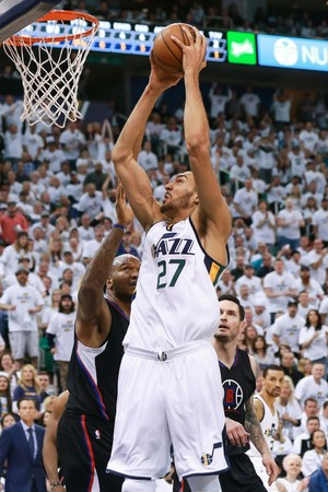 Rudy Gobert foi bem na vitória do Utah Jazz sobre os Clippers (Foto: Reuters/Chris Nicoll-USA TODAY Sports)