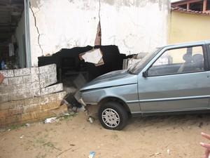 Carro que réu dirigia no dia do crime (Foto: Nadieli Sathler)