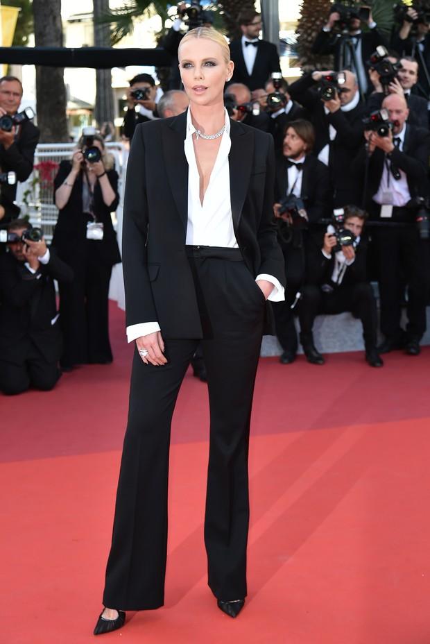 Charlize Theron no Festival de Cannes (Foto: AFP)
