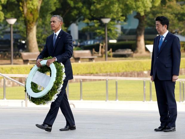 Presidente dos EUA, Barack Obama, visitou nesta sexta-feira a cidade japonesa de Hiroshima, onde os Estados Unidos lançaram a primeira bomba nuclear do mundo (Foto: Toru Hanai/Reuters)