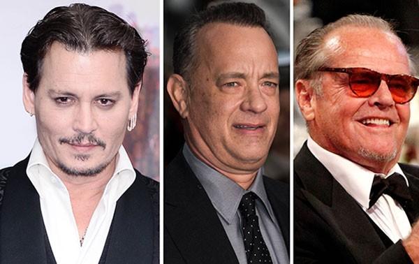 Johnny Depp, Tom Hanks e Jack Nicholson são donos das maiores fortunas de Hollywood (Foto: Getty Images)