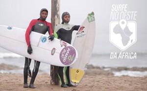 surfe no oeste da áfrica