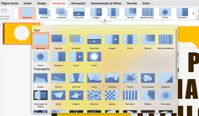 Novo PowerPoint oferece transições entre slides (Foto: Reprodução/Paulo Alves)