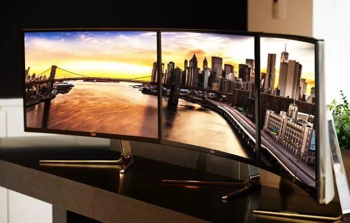 Monitores com display curvo da LG (Foto: Divulgação/LG)