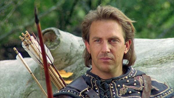 Kevin Costner em 'Robin Hood: O Príncipe dos Ladrões' (1991) (Foto: Divulgação)