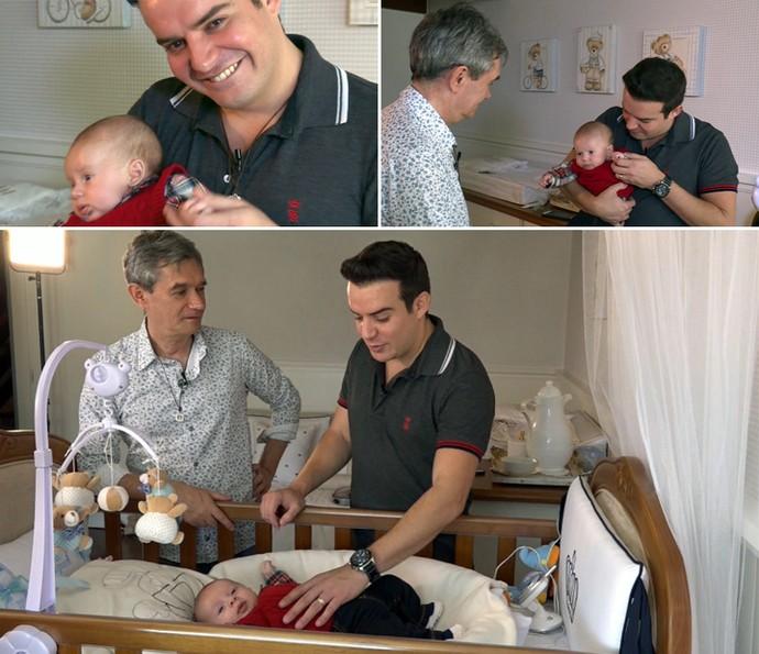 Belutti recebe o apresentador Serginho Groisman em casa (Foto: Reprodução)