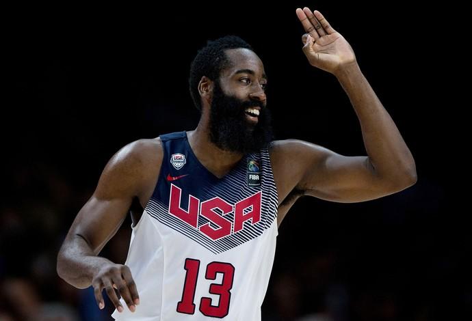 james harden eua x servia basquete mundial (Foto: Getty Images)