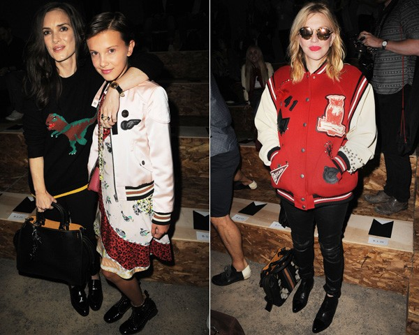 Wynona Rider, Millie Bobby Brown e Courtney Love na primeira fila da Coach (Foto: Getty Images)