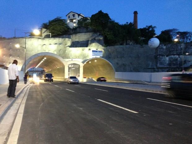 Via Binário foi aberta neste sábado (2) (Foto: Káthia Mello/G1)