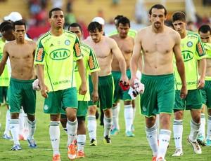 Time do Palmeiras após empate com o Flamengo (Foto: Marcos Ribolli / Globoesporte.com)