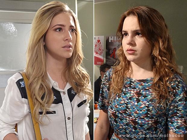 Sofia e Anita se encontram na recepção do hospital (Foto: Malhação / TV Globo)