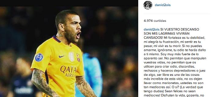 Daniel Alves instagram (Foto: Reprodução/Instagram)