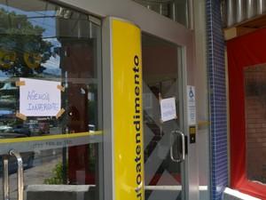 Agência do Banco do Brasil, no distrito de Barão Geraldo, foi roubada (Foto: Fernando Pacífico / G1 Campinas)