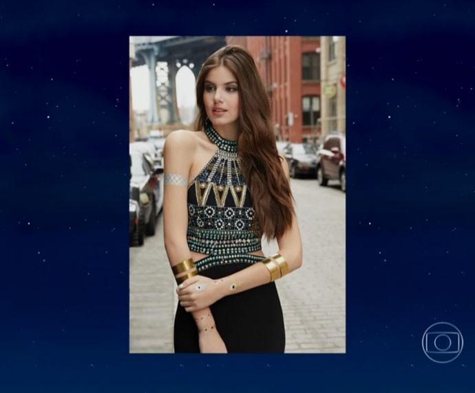Camila Queiroz exibe algumas fotos que fez em Nova York (Foto: Reprodução)