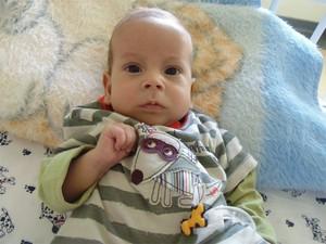 Davi Miguel está internado desde o quinto dia de vida para tratar doença rara (Foto: Divulgação)