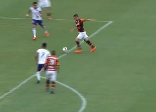 Frame Canteros Flamengo x Orlando City (Foto: Reprodução / SporTV)