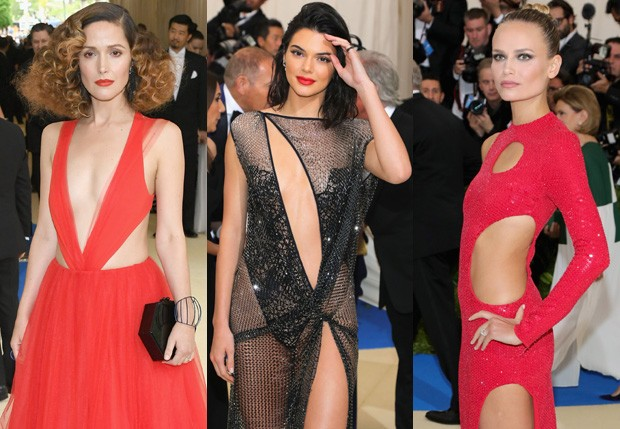 Rose Byrne, Kendall Jenner e Natasha Poly no MET Gala 201 (Foto: Getty Images)