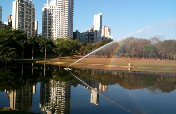 Vista do Parque Vaca Brava, no Setor Bueno, uma das áreas mais valorizadas da capital (Foto: Elisângela Nascimento/G1)