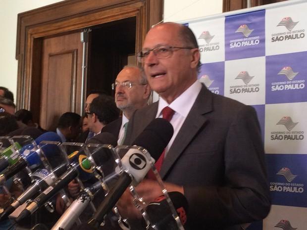 Geraldo Alckmin diz que polícia está investigando fraide na merenda escolar. (Foto: Karina Godoy/G1)
