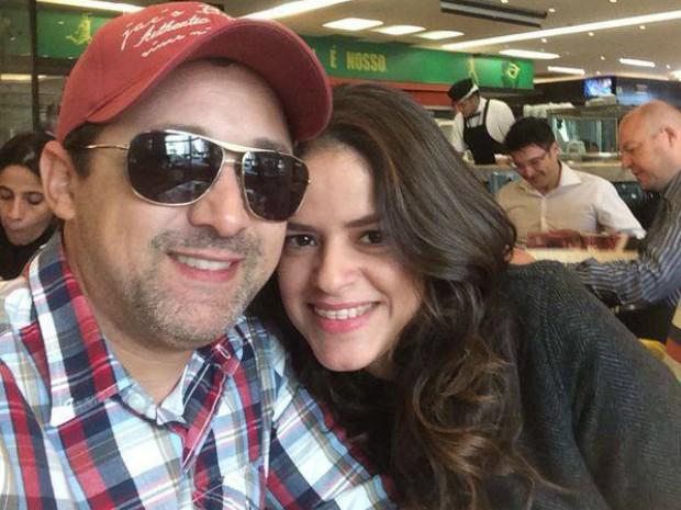 A telespectadora Maisa Narciso aproveita o Dia dos Namorados ao lado do marido Júnior.  (Foto: Maisa Narciso / VC na Inter TV )