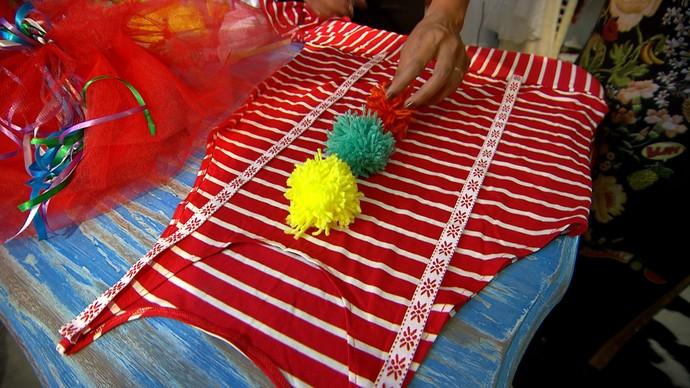 Estilista dá dicas de como criar uma fantasia para o carnaval (Foto: TV Bahia)