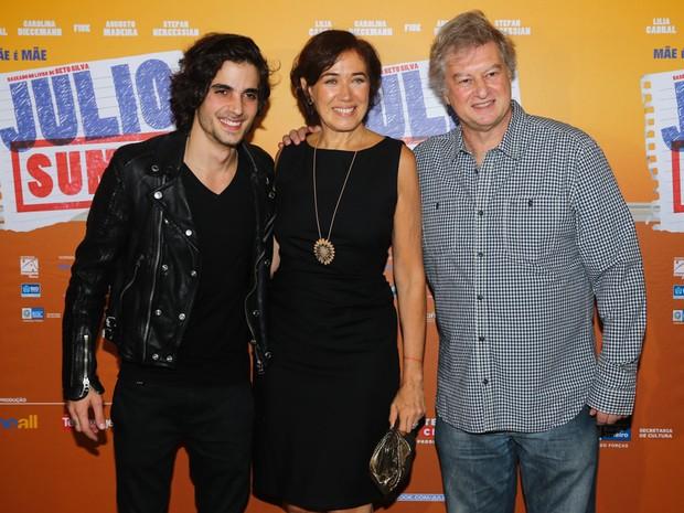 Fiuk, Lilia Cabral e Beto Silva em pré-estreia de filme em São Paulo (Foto: Manuela Scarpa/ Foto Rio News)