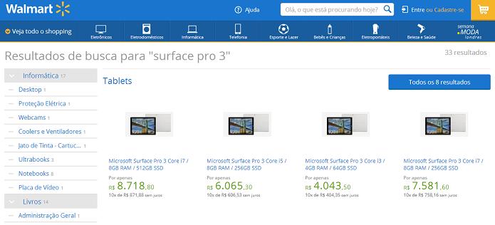Tablet custa caro no Brasil (Foto: Reprodução/Walmart)