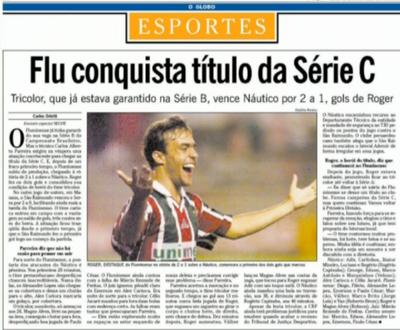 Fluminense; Série C do Brasileiro; 1999; O Globo (Foto: Reprodução SporTV)
