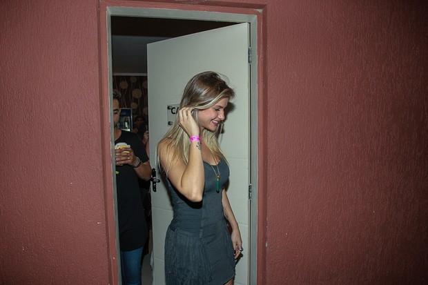 Andressa Suita em show de Gusttavo Lima (Foto: Raphael Castello/AgNews)