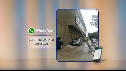 Caminhão enrosca em fios de energia e derruba postes em Sorocaba