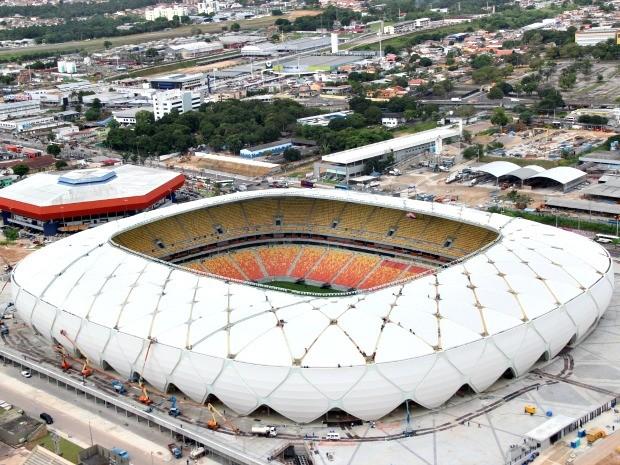 Estádio está com 97,59% das obras concluídas e recebe a partida entre Nacional-AM e Remo-PA no próximo domingo (Foto: Diego Toledano/G1 AM)