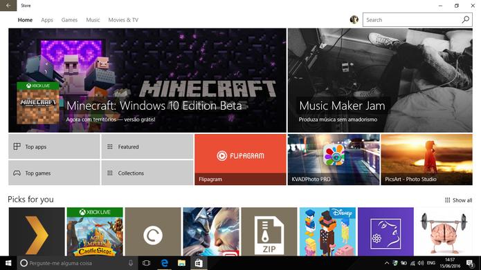 Windows Store está sendo reformulada para o Anniversary Update (Foto: Reprodução/Elson de Souza)