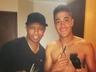 Filho de Romário muda o visual: 'Cabelo novo'