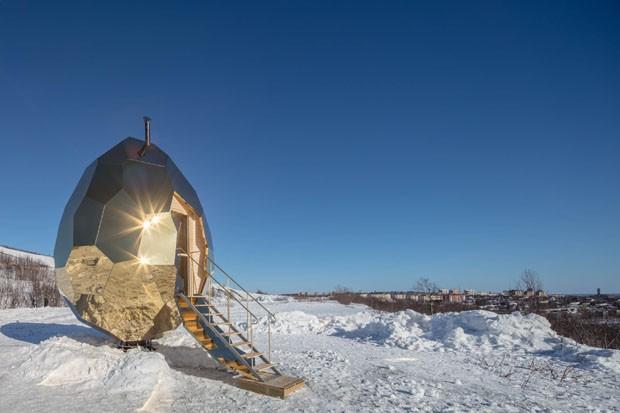 Cidade na Suécia ganha sauna em formato de ovo (Foto: divulgação)