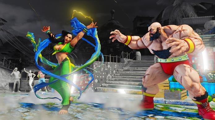 Street Fighter 5: Laura ativa seu V-Trigger Spark Show (Divulgação/Capcom)