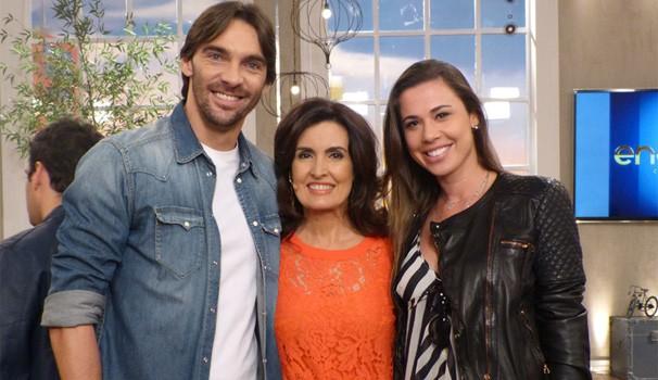Giba e Fátima Bernardes (Foto: Encontro com Fátima Bernardes/TV Globo)