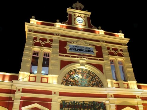Reinauguração do Mercado Adolpho Lisboa, em Manaus (Foto: Marcos Dantas/G1 AM)