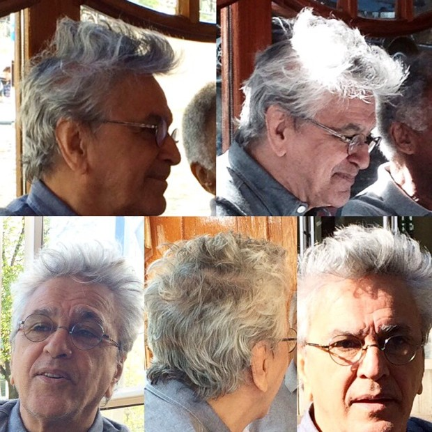 Caetano Veloso com cabelo bagunçado (Foto: Reprodução/Instagram)