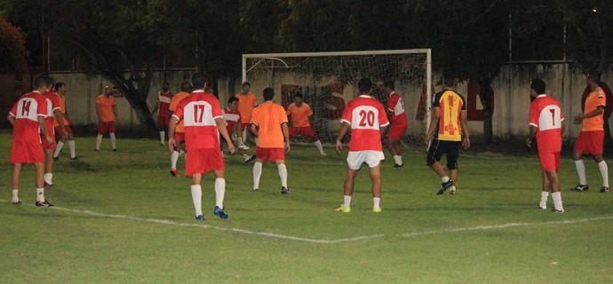Náutico-RR, treino Ribeirão (Foto: Nailson Wapichana)