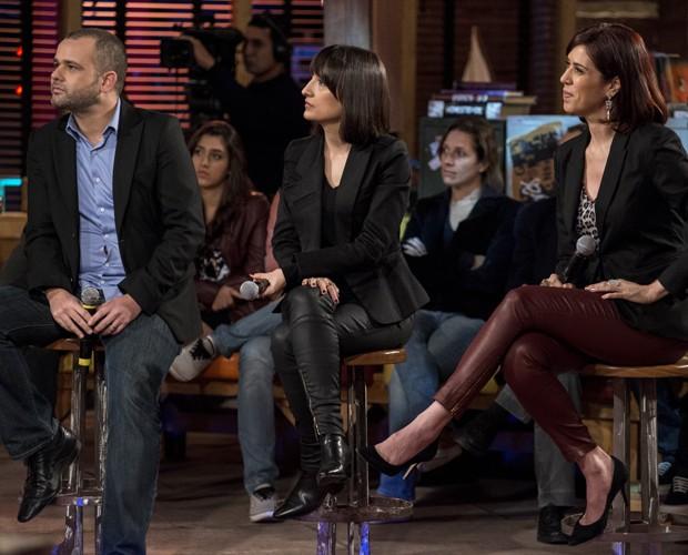 Renato Meirelles, Maria Prata e Maria Clara Gueiros (Foto: Globo/Ellen Soares)