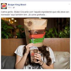 """Burger King brincou com """"aquele-ingrediente-que-não-deve-ser-nomeado"""" (Foto: Reprodução/Facebook)"""