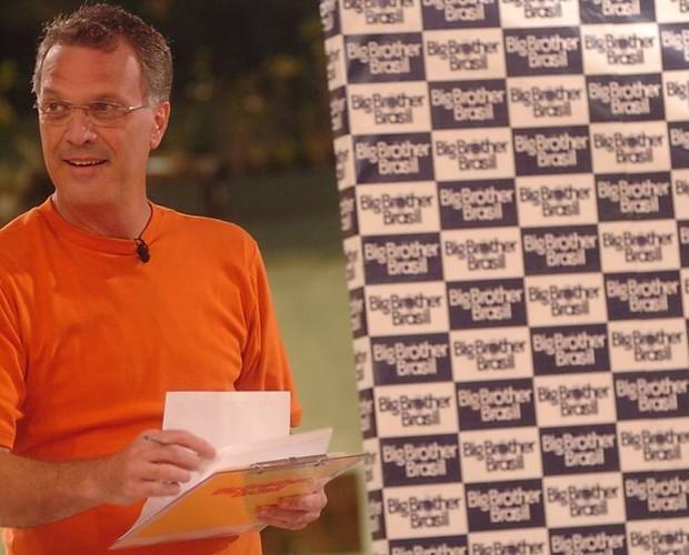 Pedro Bial no BBB 6 (Foto: Divulgação/TV Globo)